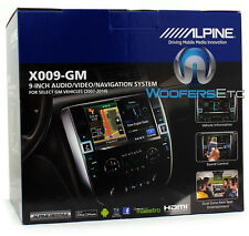 "ALPINE X009-GM 9"" CD DVD NAVIGATION GPS BLUETOOTH FOR GM CHEVROLET TRUCKS 07+"