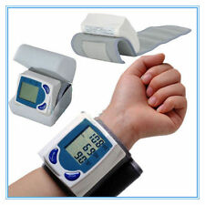 Digital LCD Wrist Blood Pressure Monitor&Heart Beat Rate Pulse Meter Measure WU