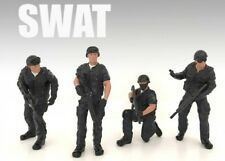 American Diorama 1/18 Police SWAT Figures - SET OF FOUR