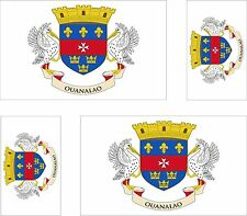 Set of 4x sticker vinyl car bumper decal outdoor car moto saint barthelemy flag