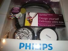 New Philips Headband headphones Exchangeable ear shell patterns SHL8800 WOW