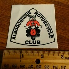 (1)  ALBUQUERQUE motorcycle club MOTORCYCLE   DECAL