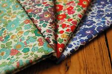 4 pieces Liberty Betsy Tana Lawn Fabric  (Green Blue Orange and purple)