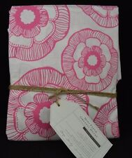 POTTERY BARN TEEN MINI FLEUR ORGANIC DUVET TWIN PINK WHITE NEW #29