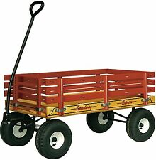 """AMISH-MADE CHILD'S WOOD WAGON, 22""""x40"""" Brand New (500) Speedway Express"""
