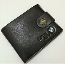 Mens BMW Wallet in Black Leather Backpack Bifold ID Holder