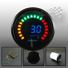 "LED digital boost gauge universal 2""/52mm turbo with electric sender"