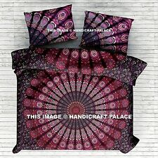 Indian Peacock Mandala Bed Spread Tapestry Wall Hanging Hippie Sheet Bedding Set