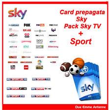 SKY TV HD + SPORT Scheda Prepagata - SCADENZA 1 MARZO 2018