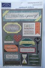 Karen Foster ~CELEBRATING A SPECIAL LIFE~ Cardstock Stickers; Memorial, Funeral