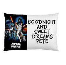 STAR WARS Personalized childrens kids bed pillow case