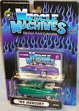2002 MUSCLE MACHINES '49 Ford Coupe #02-30 Real Riders Green 1949