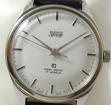 HMT Janata Hindi White Dial (Mechanical Watch) 17 Jewels Collectible men's watch