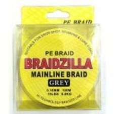 BRAIDZILLA PE MAINLINE BRAID 15lb 100m GREY - DROPSHOT/LURE/SPINNING/FEEDER