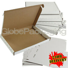 200 x WHITE C5 SIZE PIP LARGE LETTER CARDBOARD POSTAL MAIL BOXES 222x160x20mm