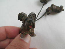 Circa folk Art Black Forest 1900's Carved skye terriers & puppies / Anri ?