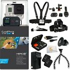 GoPro HERO3+ Black Edition Camera Kit + All in 1 Helmet/Chest/Head PRO Bundle!