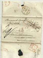 1834 TANDERAGEE WRAPPER POSTAGE NOT PAID TO LONDON RE-DIRECTED COUNTESS BRIGHTON