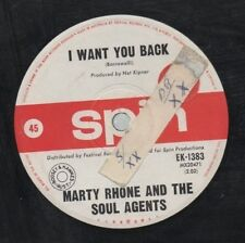 """MARTY RHONE AND THE SOUL AGENTS   Rare 1966 Oz Only 7"""" OOP Pop Single """"You Back"""""""