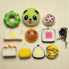 10Pcs Mini Squishy Soft Sushi/Bread/Cake/Buns Random Toy Cell Phone Key Straps