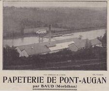 1929  --  PAPETERIE DE PONT AUGAN  PAR BAUD   3J065