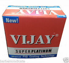 100 blades Vijay Stainless Steel Double Edge Safety Barber Shaving Razor Blades