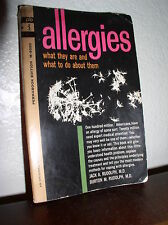 Allergies by Jack & Burton Rudolph, MDs (Pocket Books #M-5050,1st Prnt Aug 1962)
