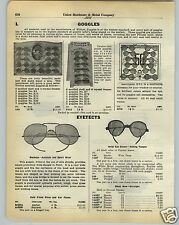 1930 PAPER AD Willson Store Display Stand Rack Card Goggles Eyetects