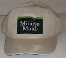 NEW!  Minute Maid STONE KHAKI NOVELTY BASEBALL HAT
