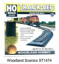 HO Scale Woodland Scenics ST1474 Track-Bed 24' Continuous Roll