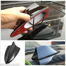 Black Shark Fin Shape Car SUV Roof Antenna Aerial FM/AM Radio Signal Simulation