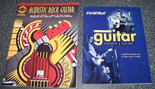 LOT OF 2 ACOUSTIC GUITAR BOOKS - COMPLETE WITH LESSONS - ACOUSTIC WITH LESSONS