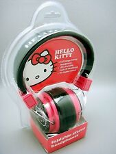 2012 Sanrio Hello Kitty Foldable Stereo Headphones New Old Stock Sealed Package