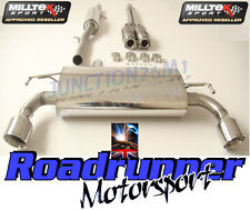 Milltek Golf R32 MK4 Exhaust Sports Cat & Cat Back Resonated System GT100 Tails