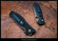Electric Blue Carbon Fiber Pocket Clip 3 Hole for most factory and custom knives