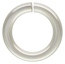 Silver Filled OPEN Jump Rings. 8mm. 18 Gauge. Approx. 100 Pieces.
