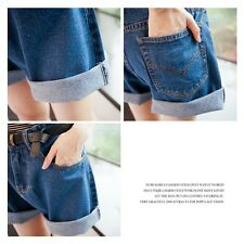 Korean Fashion Women High Waisted Oversize Boyfriend Casual Jeans Shorts Pants