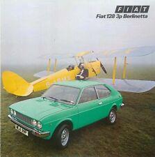 Fiat 128 3P Berlinetta 1300 1976-77 original UK Sales Brochure