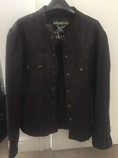 All Saints Rock Leather Jacket L XL