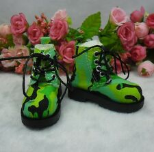 MSD DOC 1/4 Bjd Sasha Obitsu 60cm Bjd Doll Boots High Hill Shoes Army Green