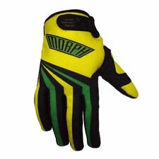 Motocross MX dirt bike yellow green small gloves