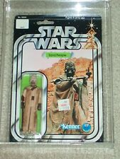 Vintage Star Wars 1978 KENNER AFA 85/85/85 SAND PEOPLE ANH 12 Back MOC CLEAR BUB