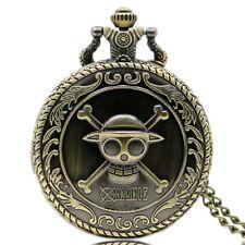 Classic Vintage Pendant One Piece Bronze Quartz Pocket Watch Men's Women's Gift