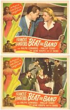 2 PIECE LOT FRANCES LANGFORD BEAT THE BAND LOBBY CARDS.