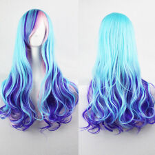 Women Lady Multi-Color Lolita Style Long Wave Hair Fancy Cosplay Party Hair Wig