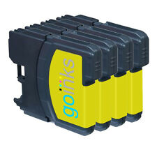 4 Yellow Ink Cartridges for Brother DCP-J125, DCP-J140W, DCP-J315W, DCP-J515W