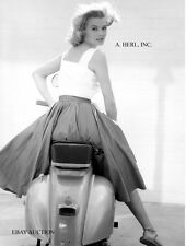 Vespa scooter production 1950s Angie Dickinson - motorcycle photo photograph