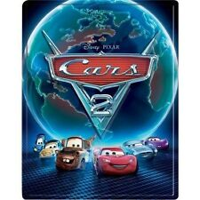 Cars 2 3D Collectible SteelBook [BR3D + Blu-ray + DVD + Digital, 5-Disc] NEW