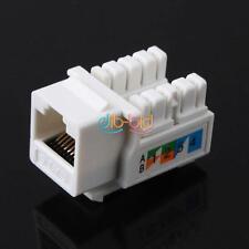 10pcs CAT6 RJ45 110 Punch Down Keystone Jack réseau Ethernet OZ