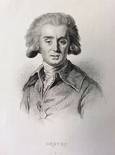 André-Ernest-Modest Cretry compositeur Musique gravure 1868